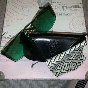 Green and gold Versace sunglasses